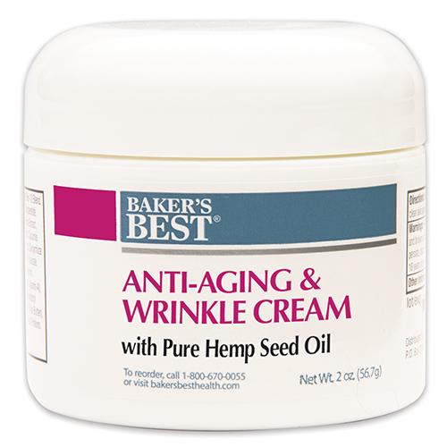 Anti-Aging Wrinkle Cream with 100% Pure Hemp Seed Oil