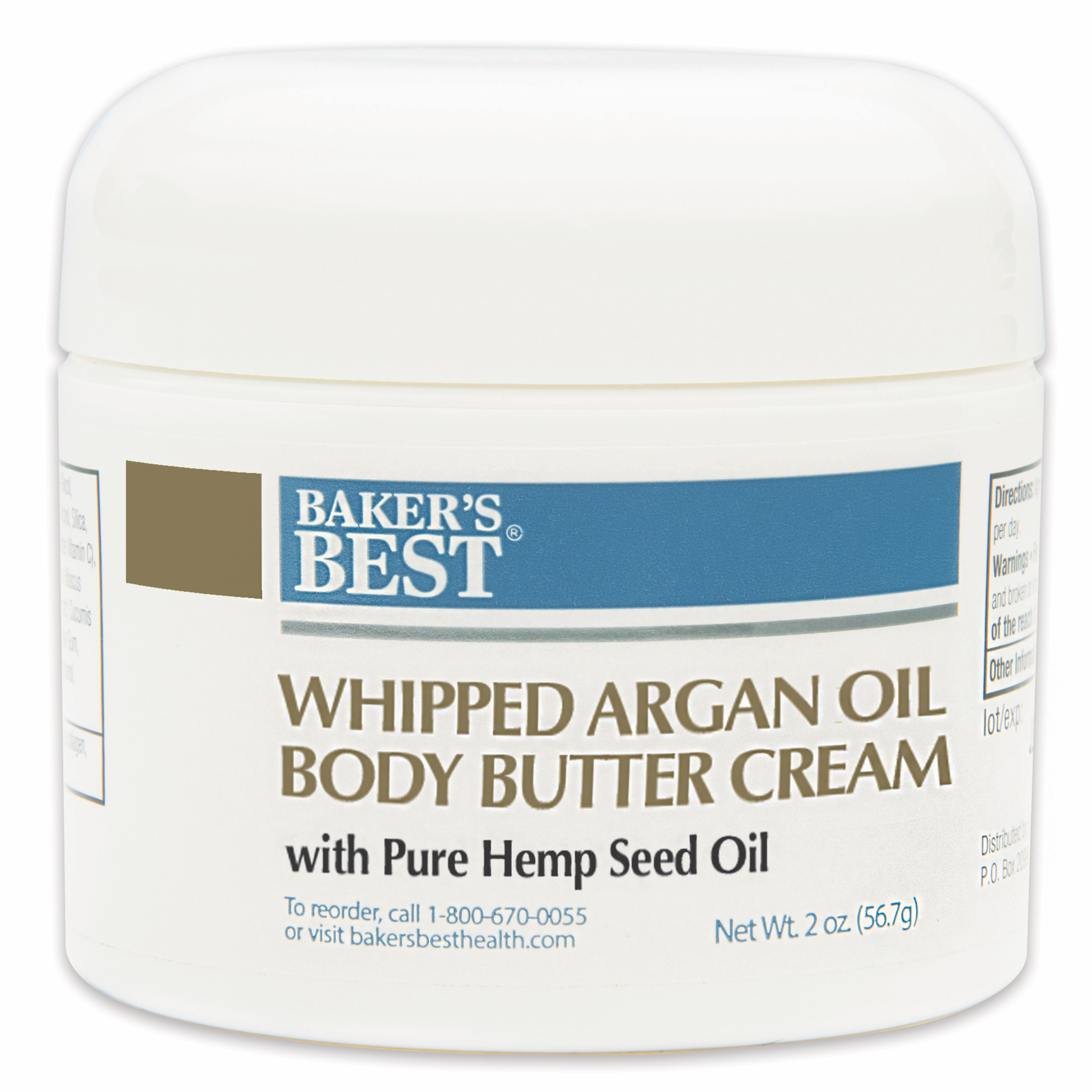 Whipped Argan Oil Body Butter Cream with Pure Hemp Seed Oil