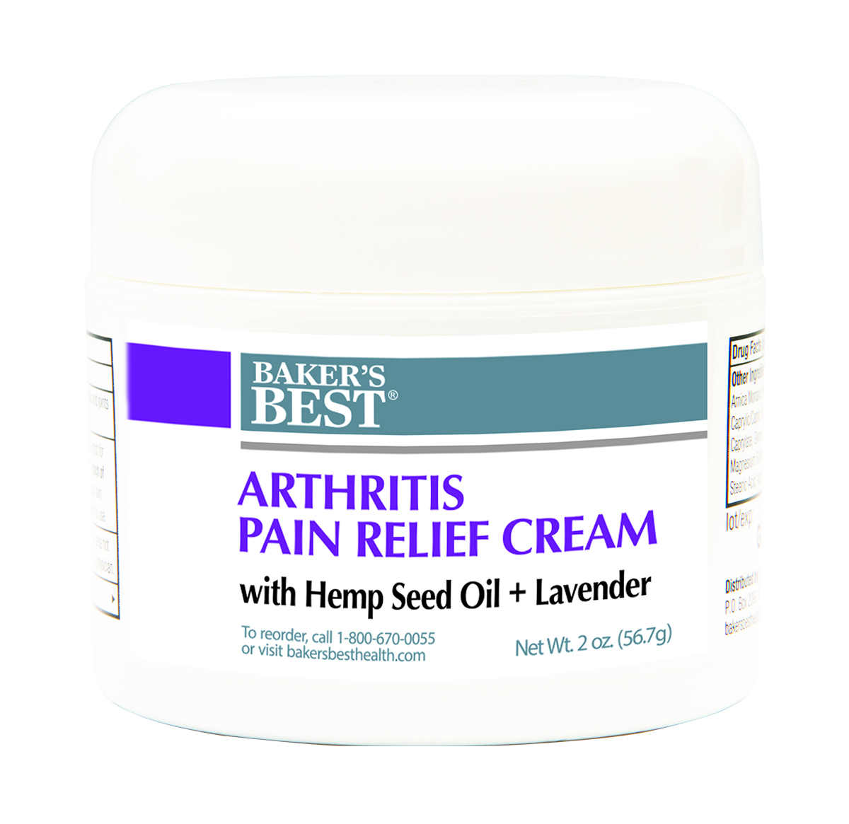 Arthritis Pain Relief Cream with Pure Hemp Seed Oil + Lavender