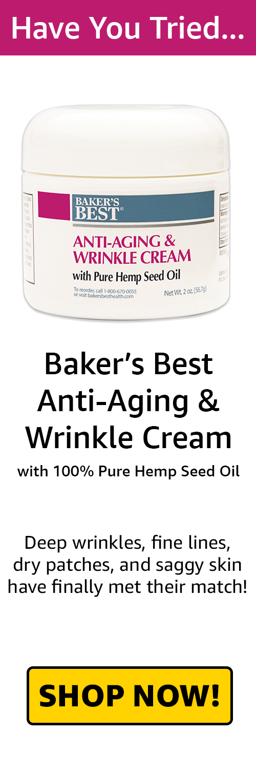 Anti-Aging And Wrinkle Cream with Hemp Seed Oil