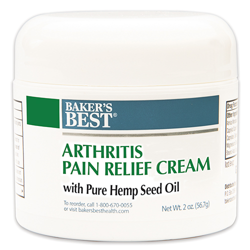 Arthritis Pain Relief Cream with 100% Pure Hemp Seed Oil