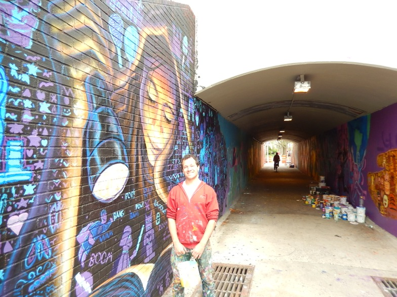 Wonderful Murals at the Cross Island Underpass Completed