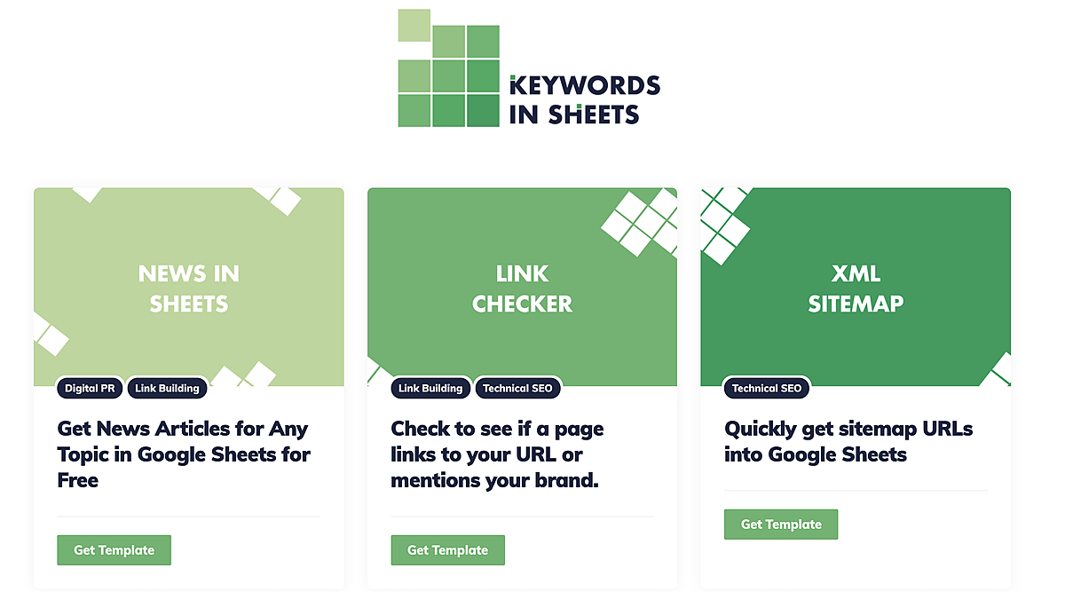 Free Google Sheets Scripts for SEO