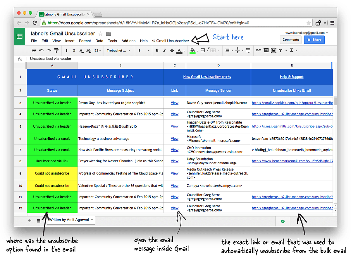 How to Unsubscribe from Mailing Lists and Junk Newsletters in Gmail