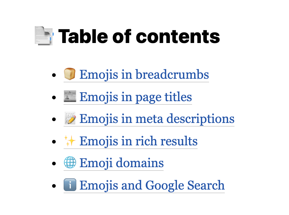 Google ❤️ emojis How to bring more attention to your search snippets 👋