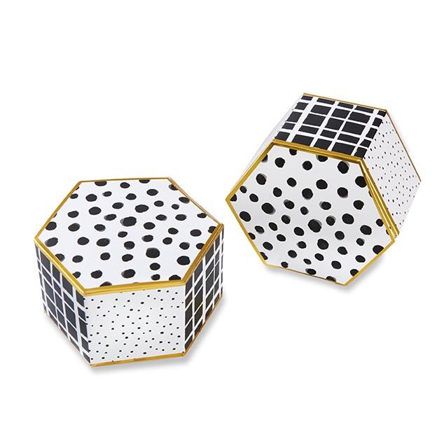 Modern Pattern Hexagon Favor Box