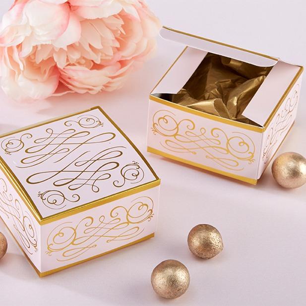 Romantic Square Favor Box 10021