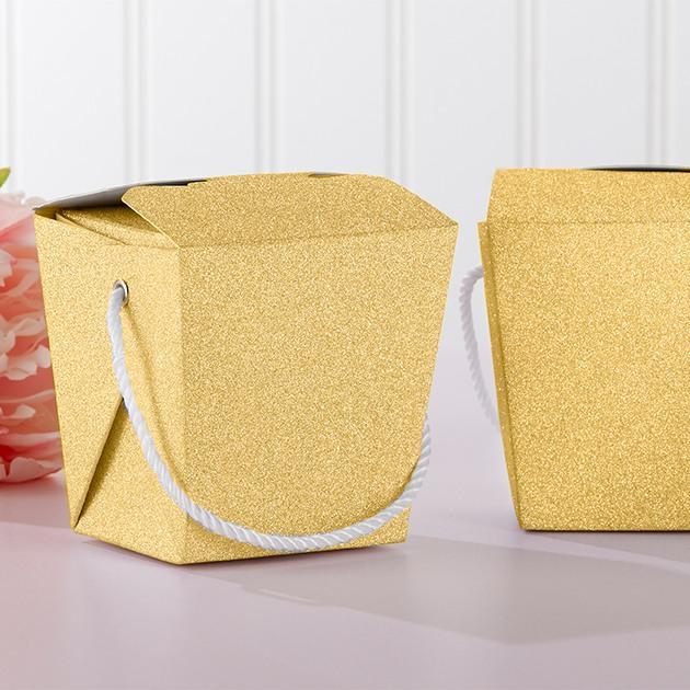 Gold Glitter Takeout Box