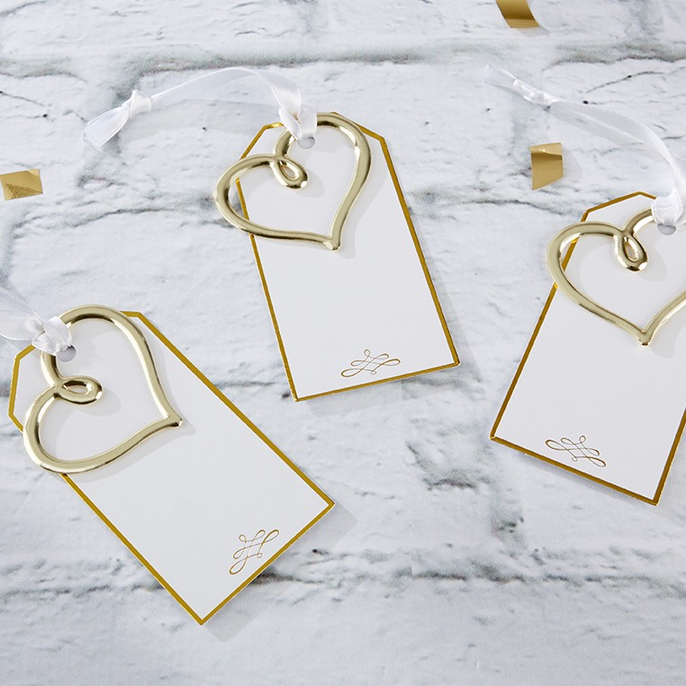 Gold Heart Escort Cards 10030