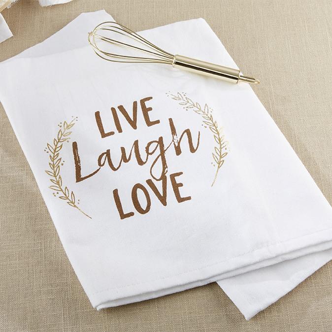 Live, Laugh, Love Tea Towel & Whisk 10032