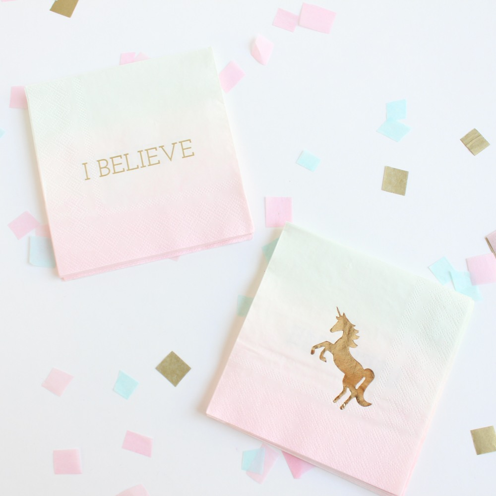 Pastel Unicorn Cocktail Napkins 10045