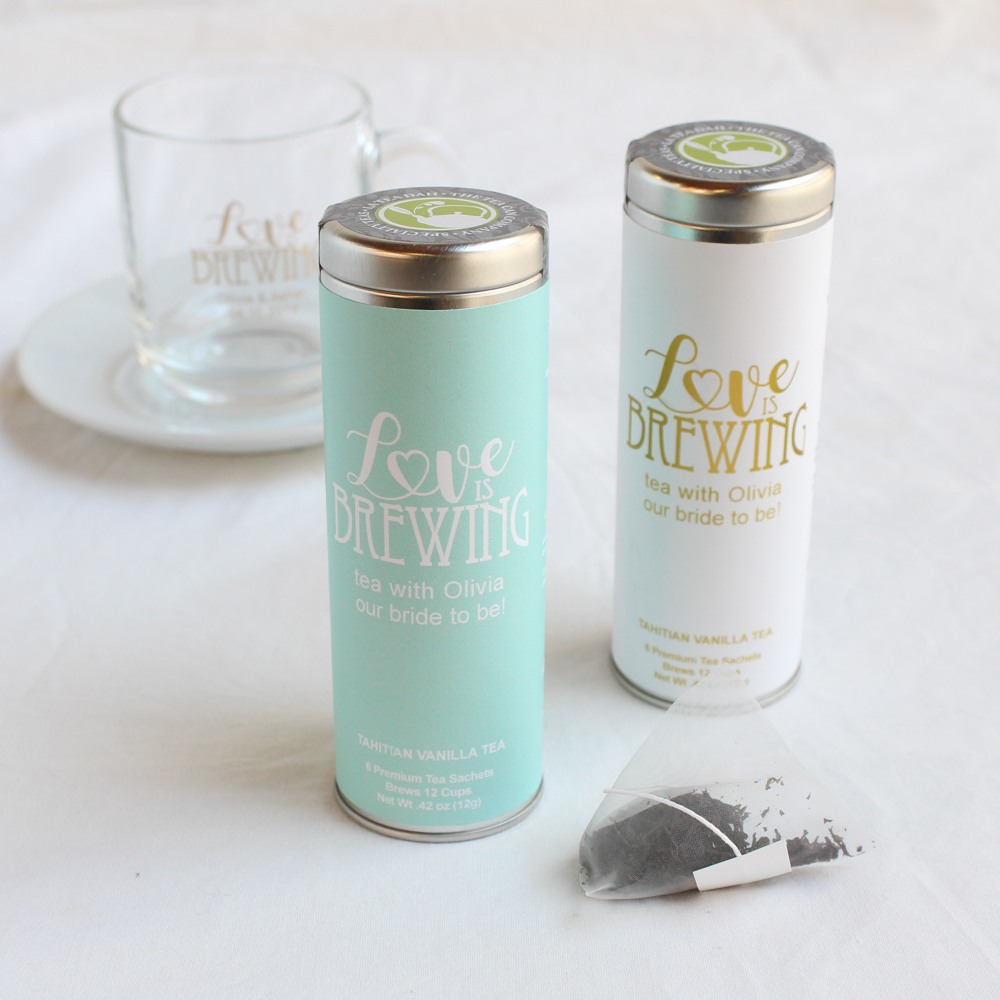 Personalized Tea Tin Favor 10050