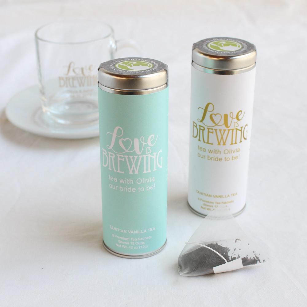 Personalized Tea Tin Favor 10050