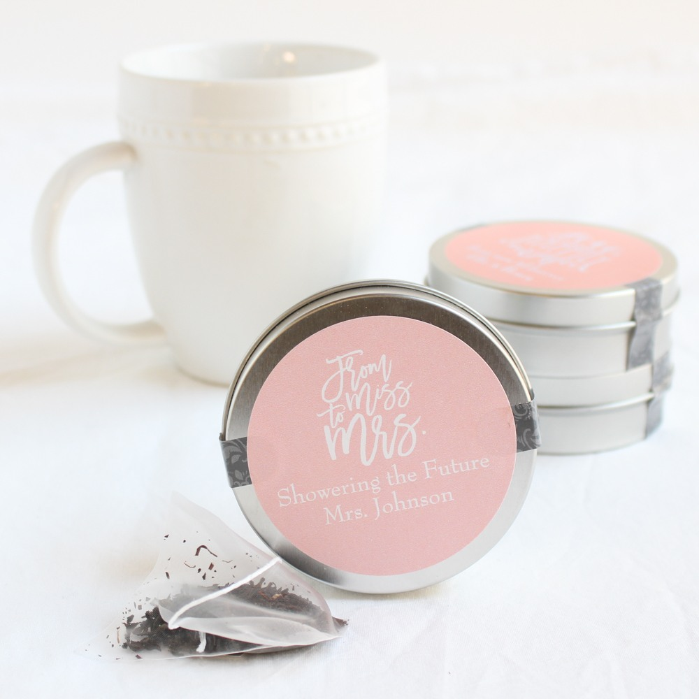 Personalized Miss to Mrs Mini Tea Tin Favor