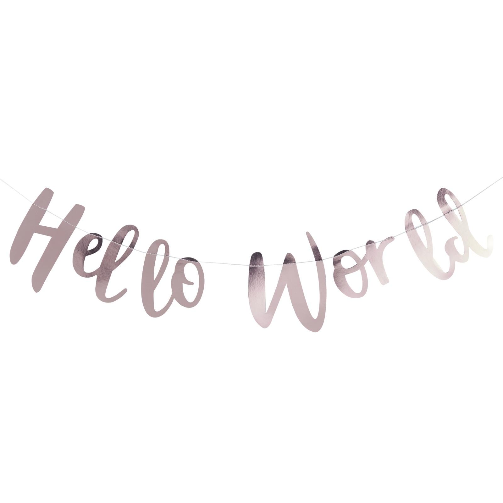 Hello World Garland