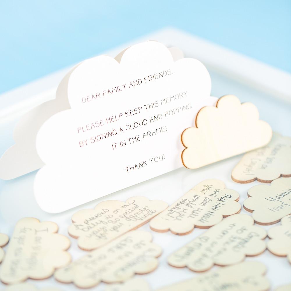 Cloud Drop Top Frame Guest Book Heaven sent