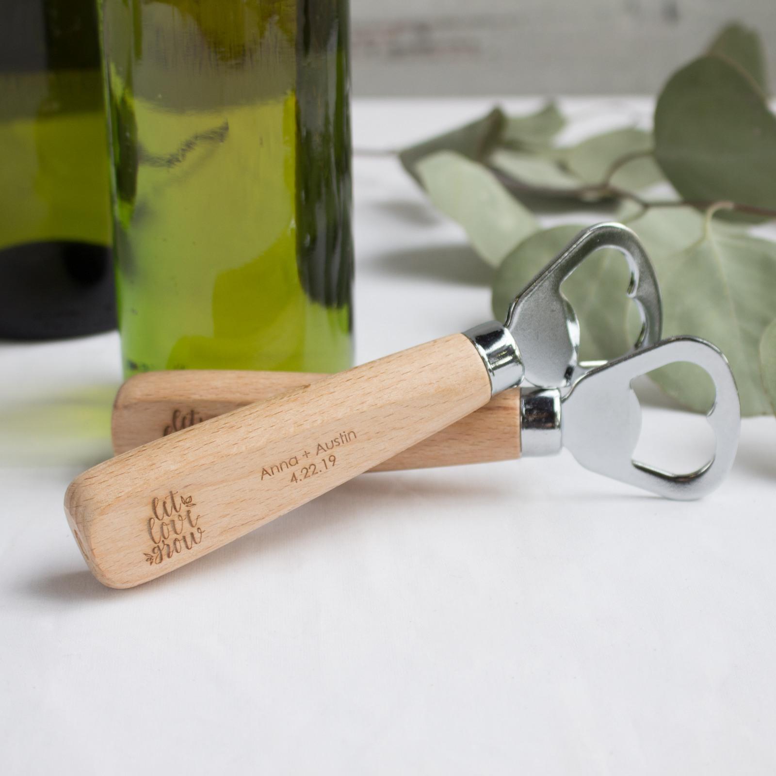 Personalized Wood Handle Bottle Opener 10108