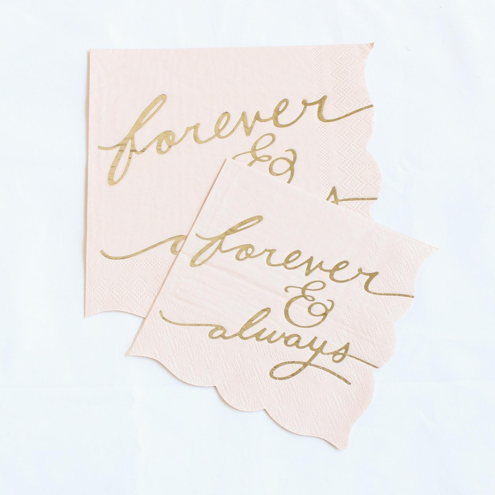 Forever & Always Blush Napkins 10130