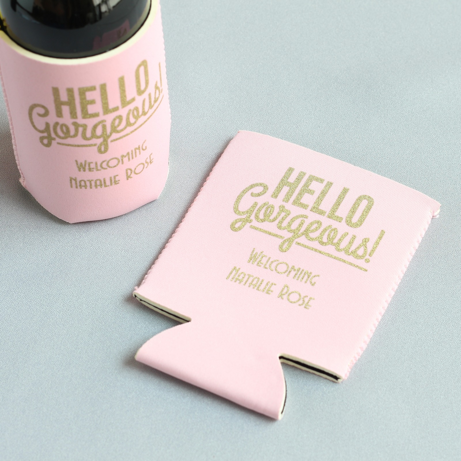 Hello Gorgeous Baby Shower Can Sleeve