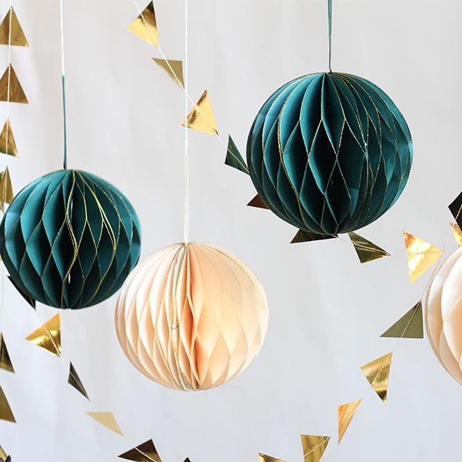 Glitter Honeycomb Ball Decoration 10147