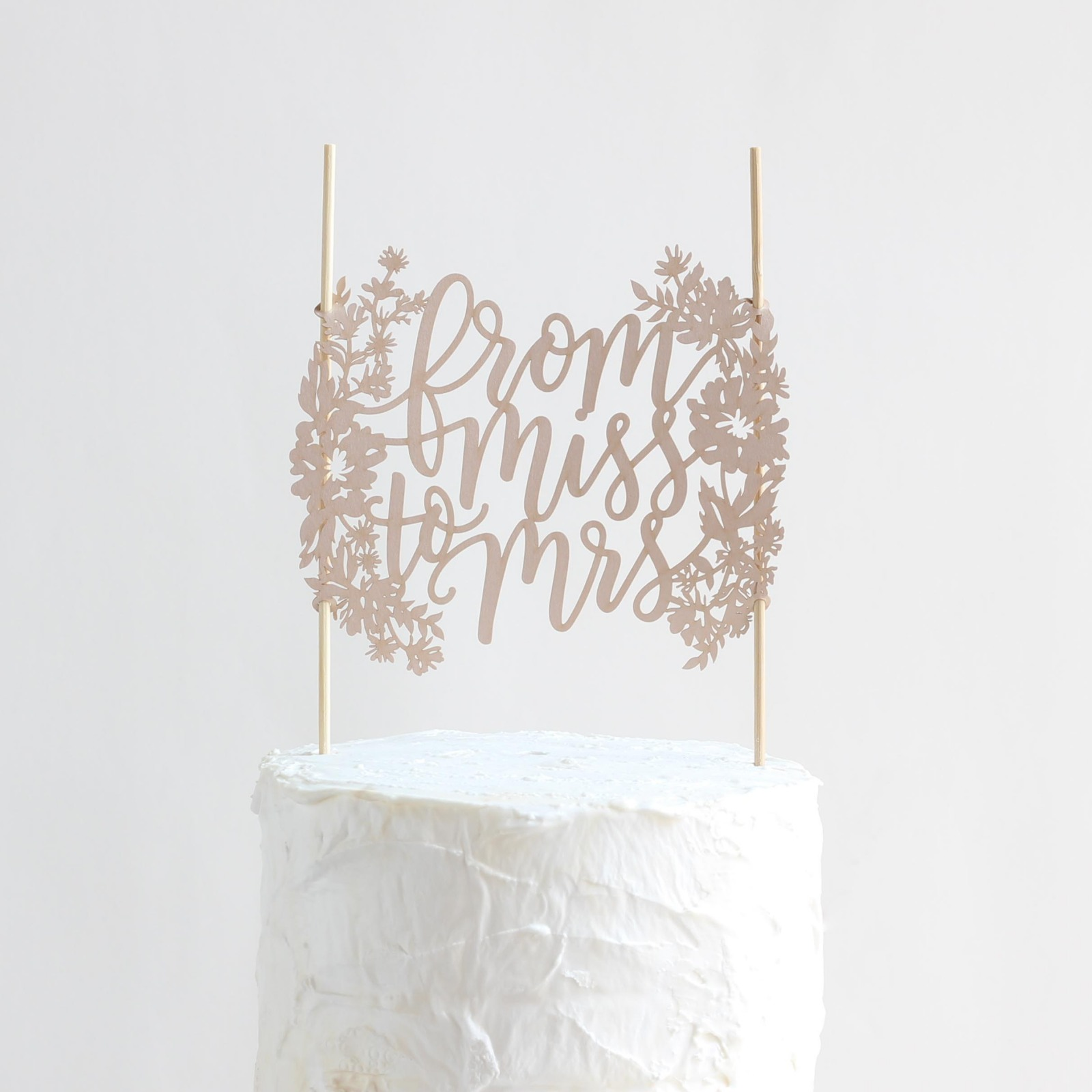 From Miss To Mrs Paper Cake Topper 10172