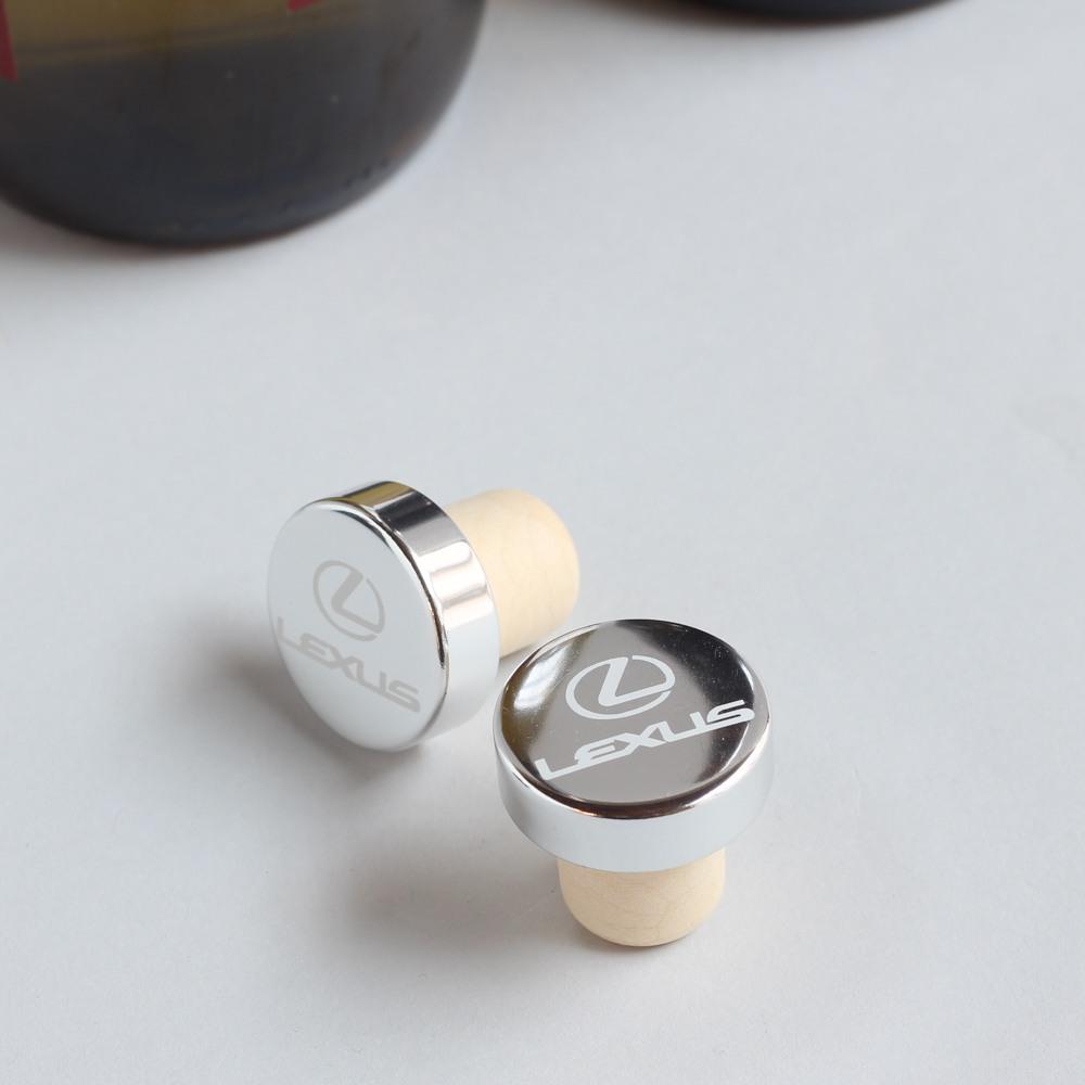 Custom Logo Aluminum Top Bottle Stopper