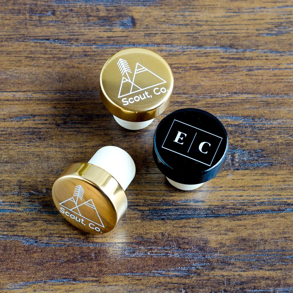 Custom Logo Aluminum Top Bottle Stopper 10194