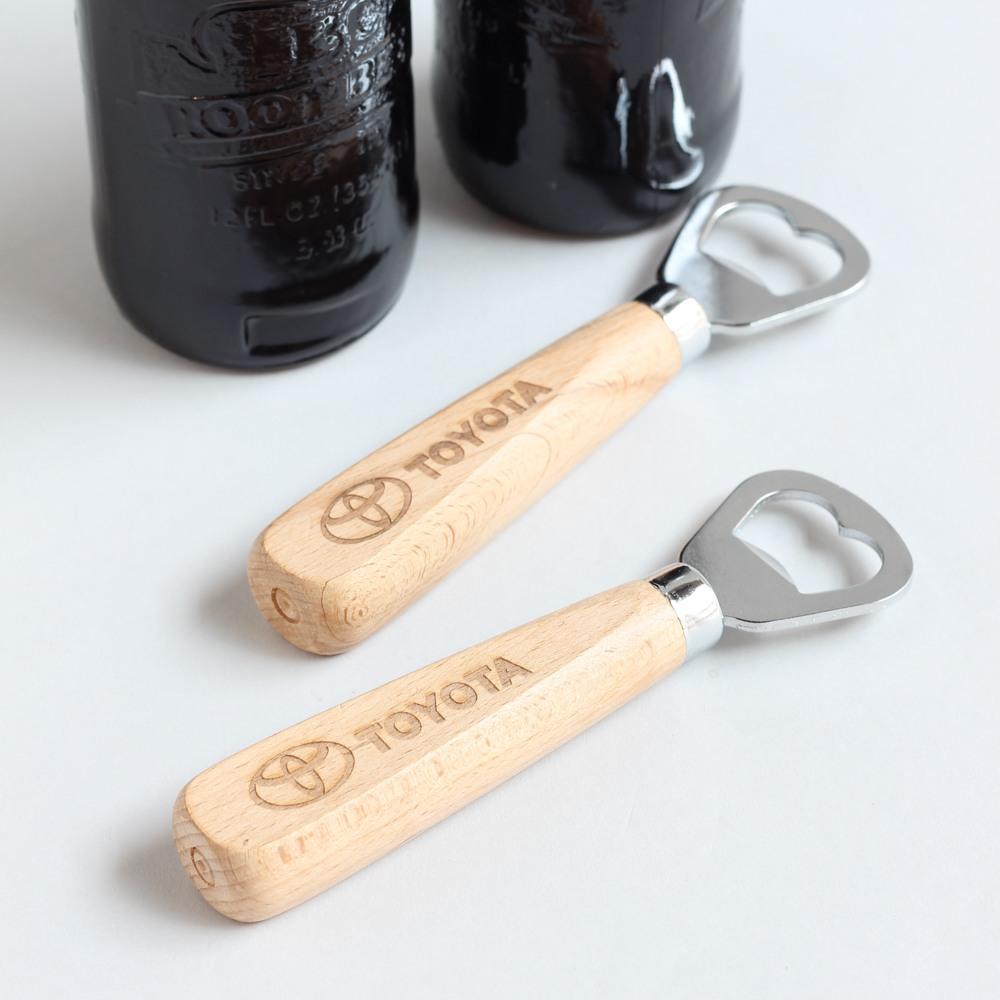 Custom Logo Wood Handle Bottle Opener 10196