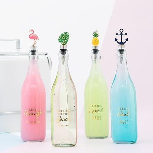 Tropical Enamel Bottle Stoppers 10356