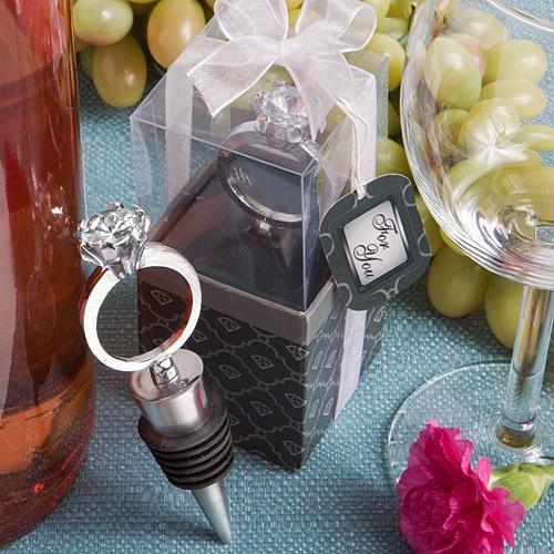 Diamond Ring Bottle Stopper 10408