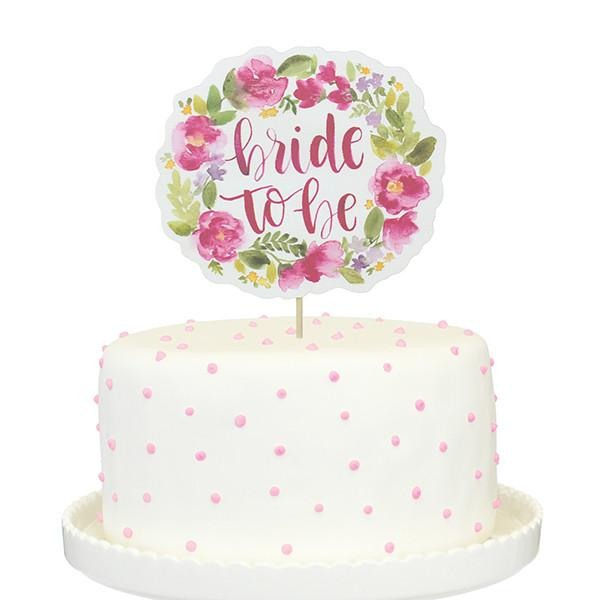 Floral Bride To Be Paper Cake Topper 10411
