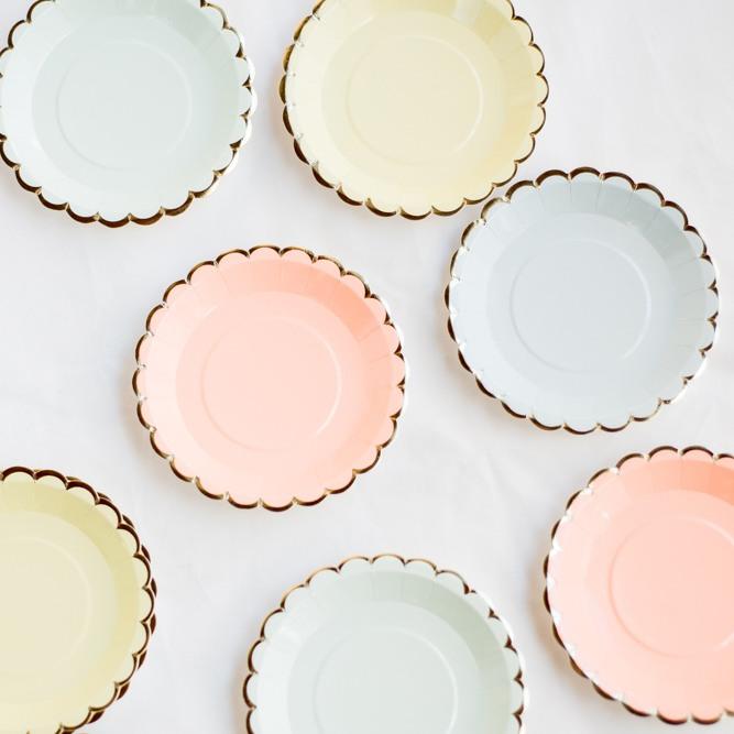 Pastel Canape Paper Plates 10422