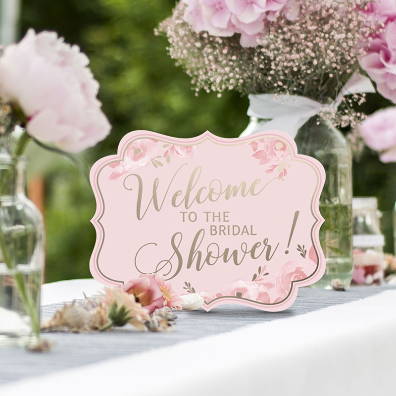 Pink & Gold Bridal Shower Signs 10425