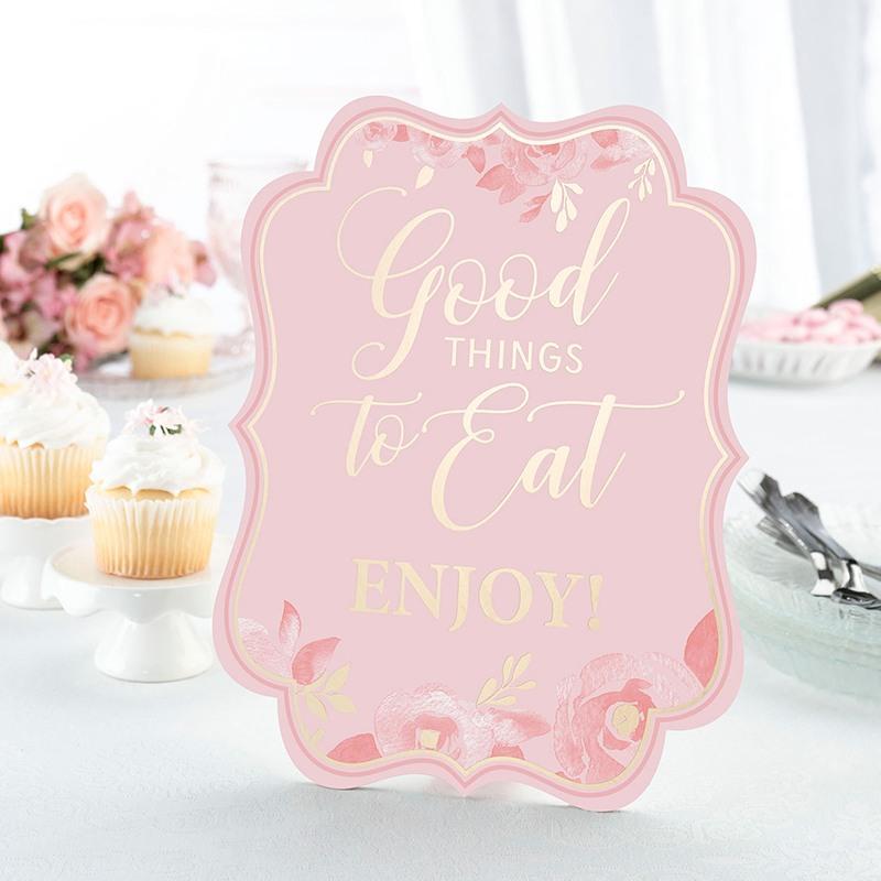 Pink & Gold Bridal Shower Signs