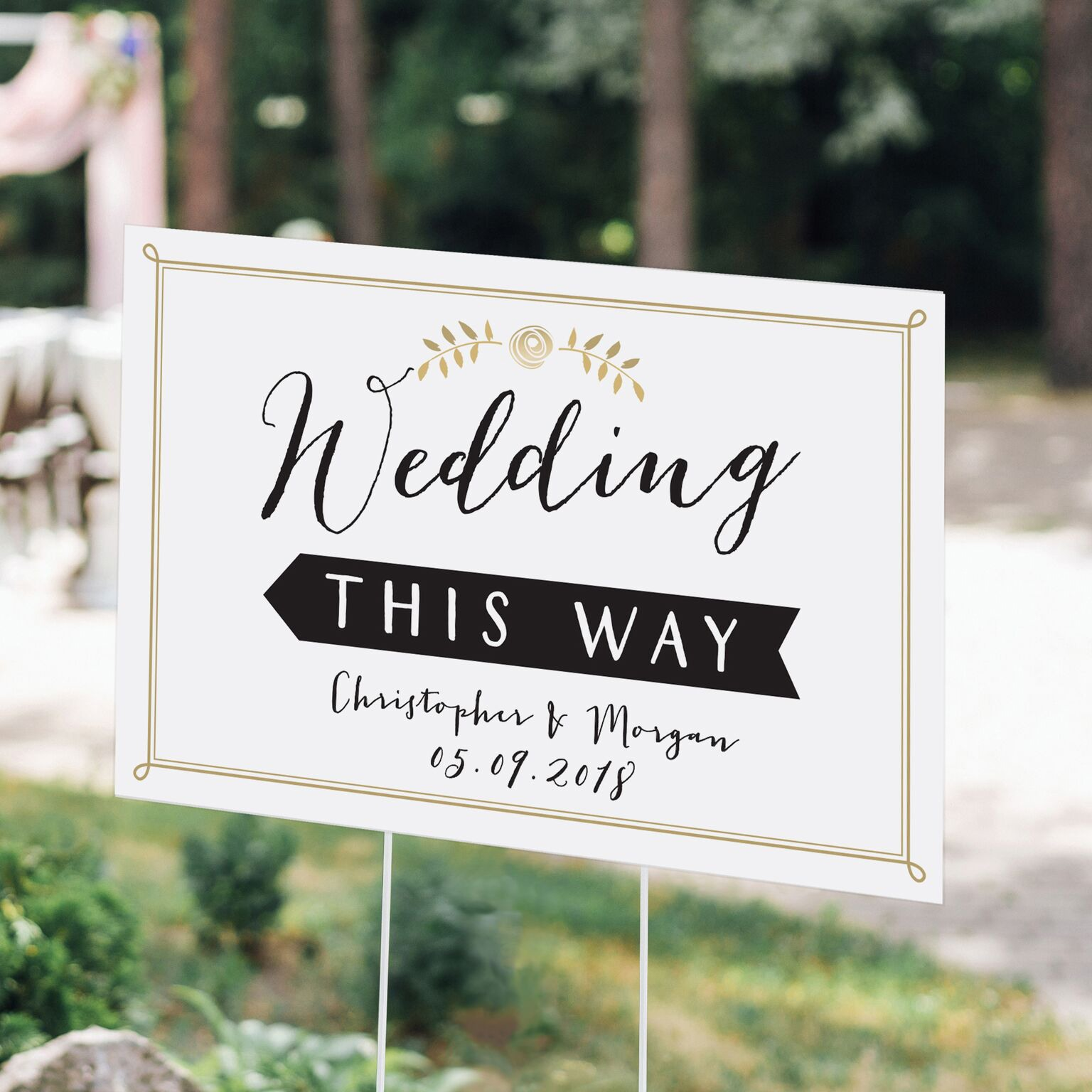 Personalized Script Wedding Sign 10438