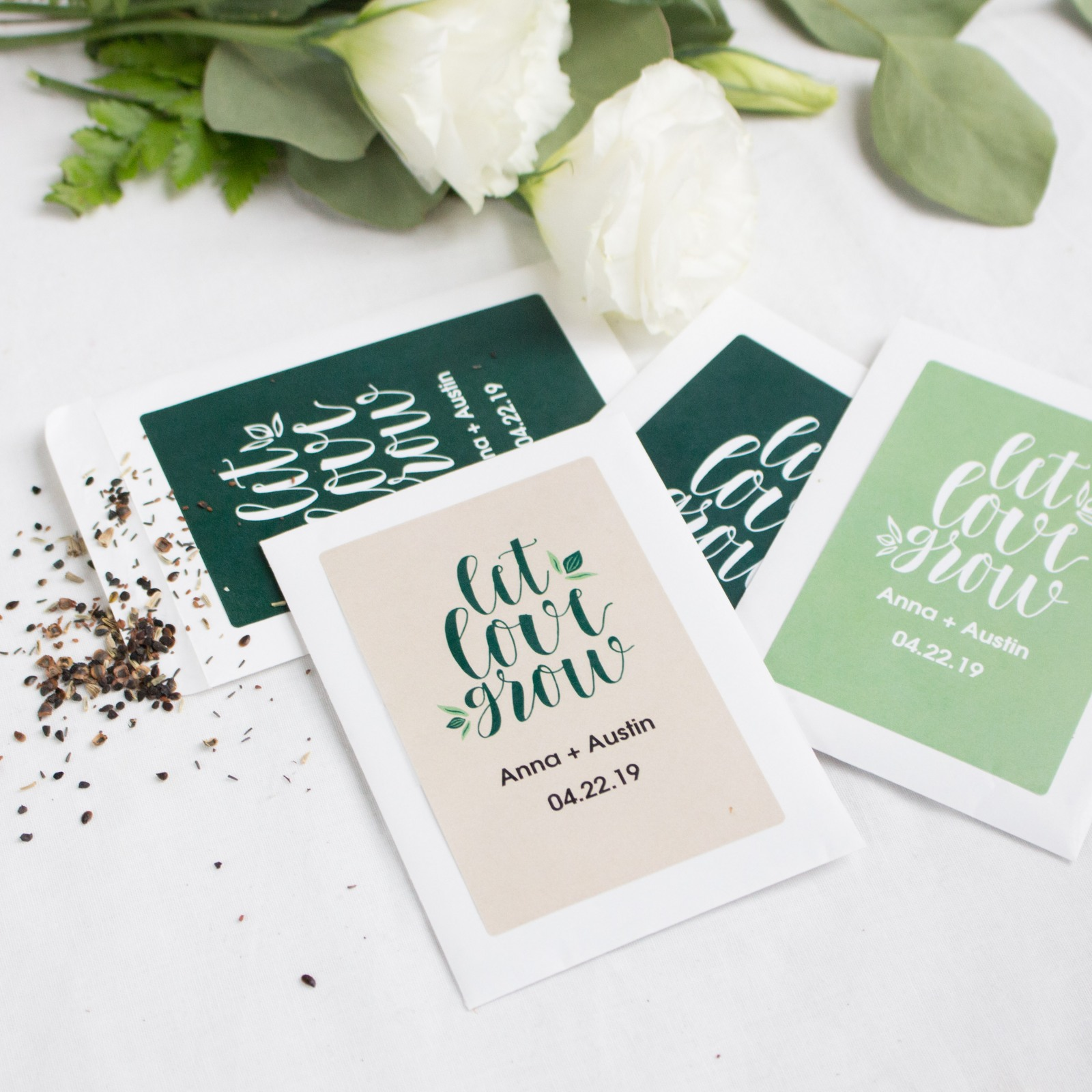 Personalized Wedding Favor Seed Packets 10439