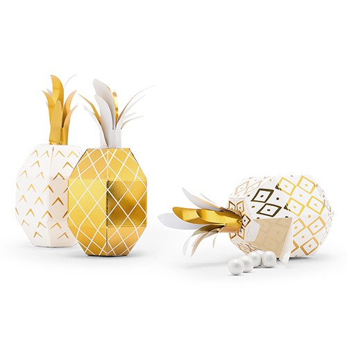 Tropical Pineapple Favor Boxes 10444