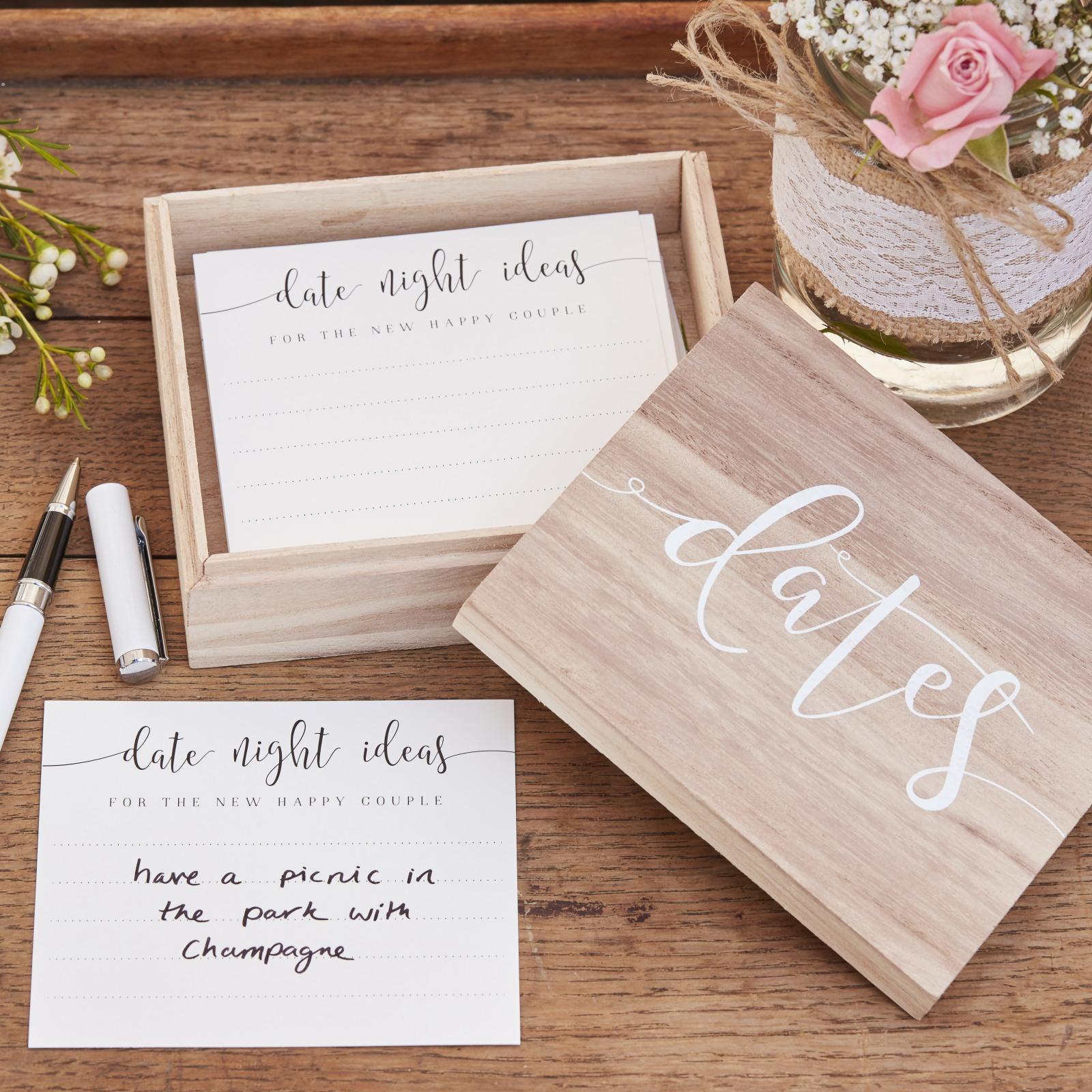 Wood Date Night Box 10465