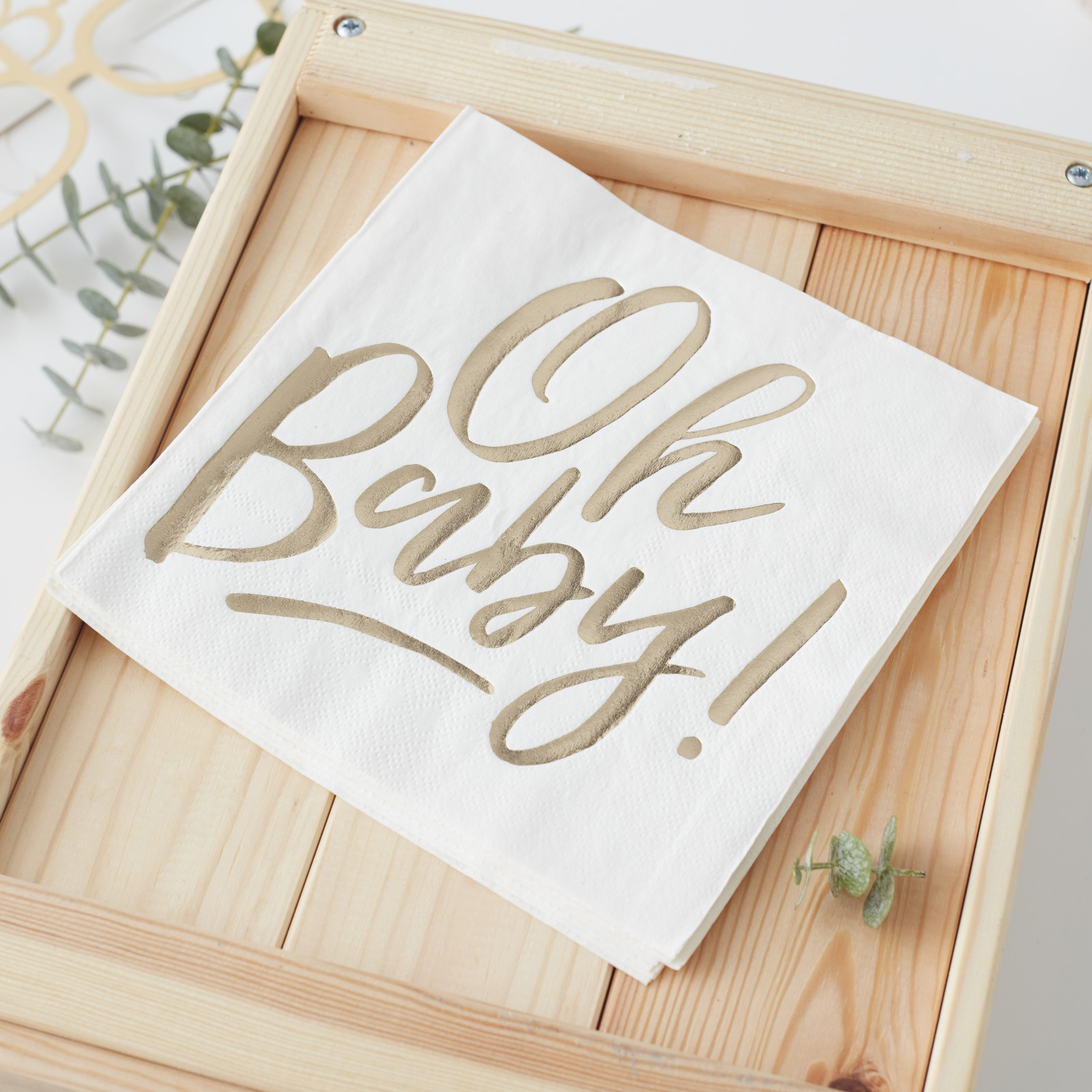 Oh Baby Gold Foil Napkins 10471