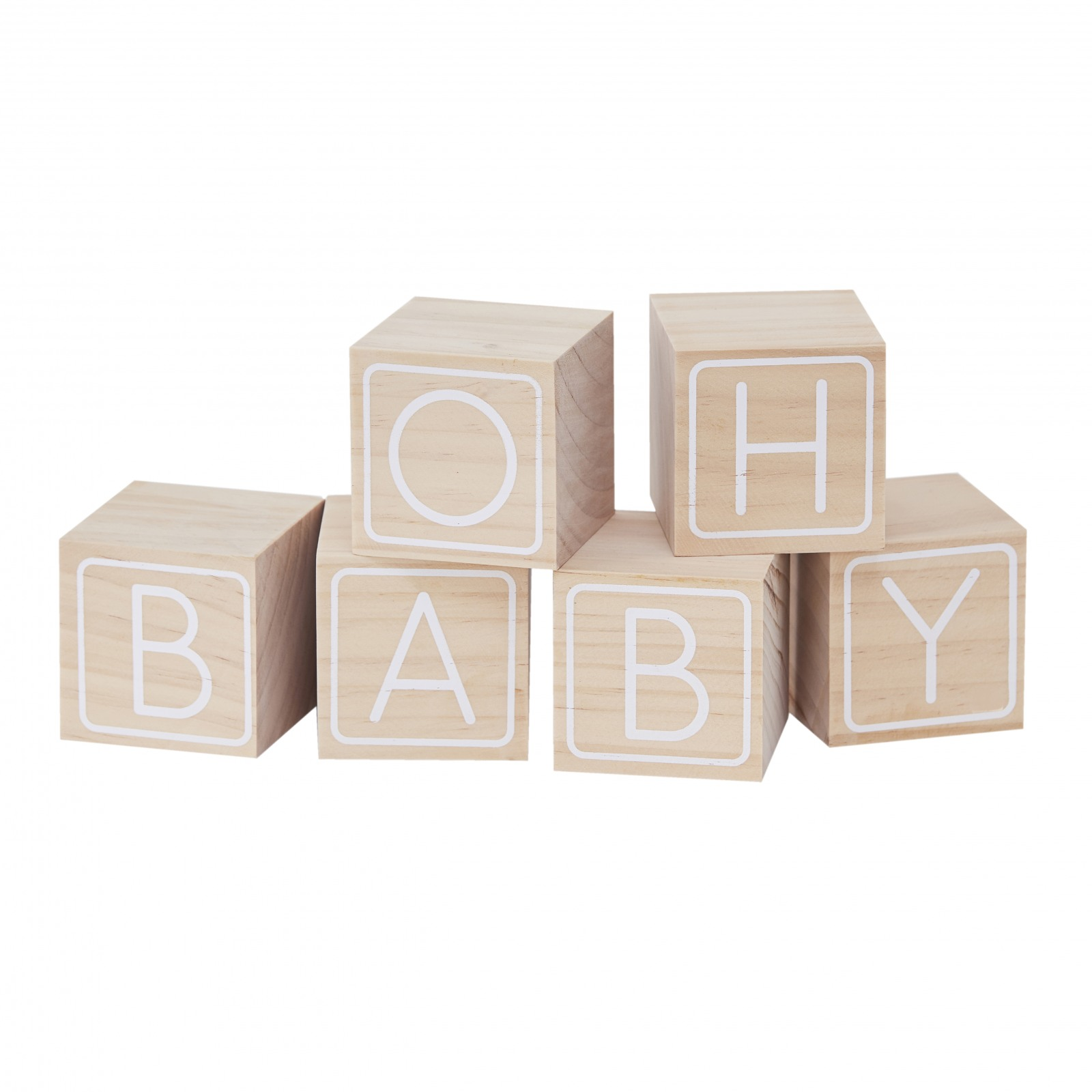 Baby Blocks Wood Guest Book