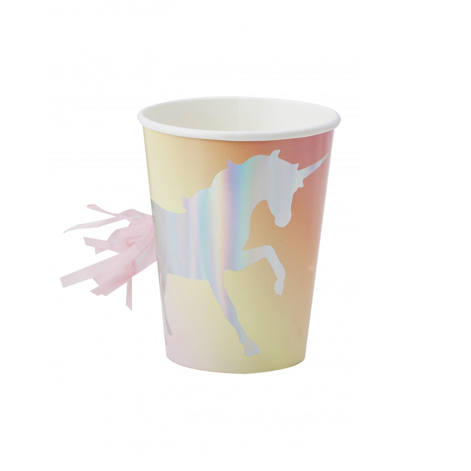Iridescent Unicorn Cups