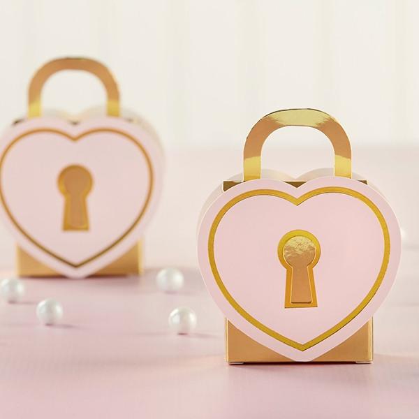 Love Lock Favor Boxes 10546