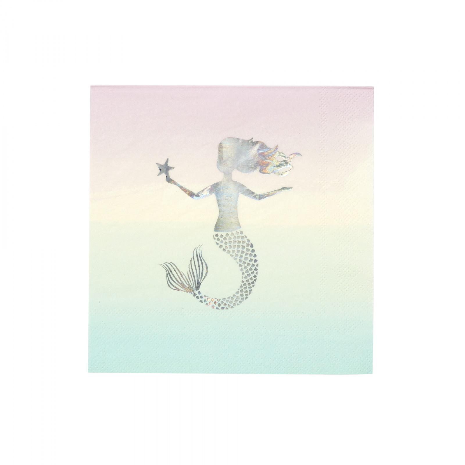Pastel Mermaid Napkins 10592