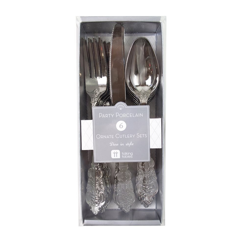 Silver Plastic Party Cutlery