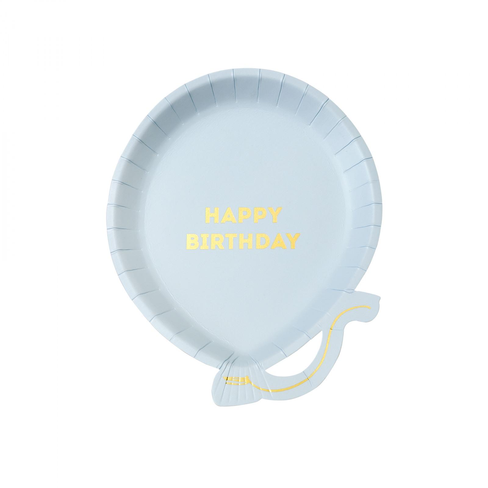 Happy Birthday Balloon Shaped Plates 10599