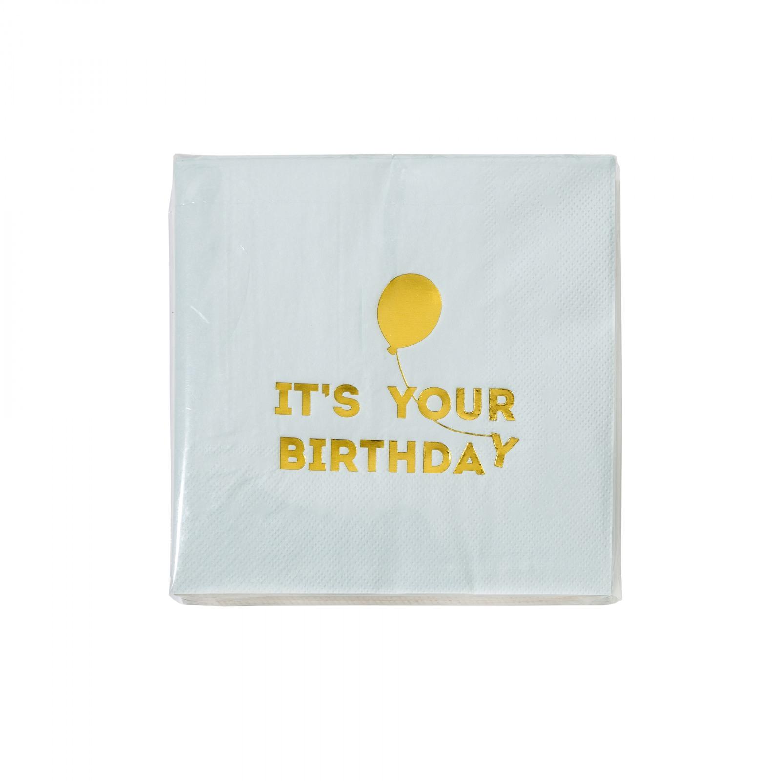 Blue Happy Birthday Balloon Napkins