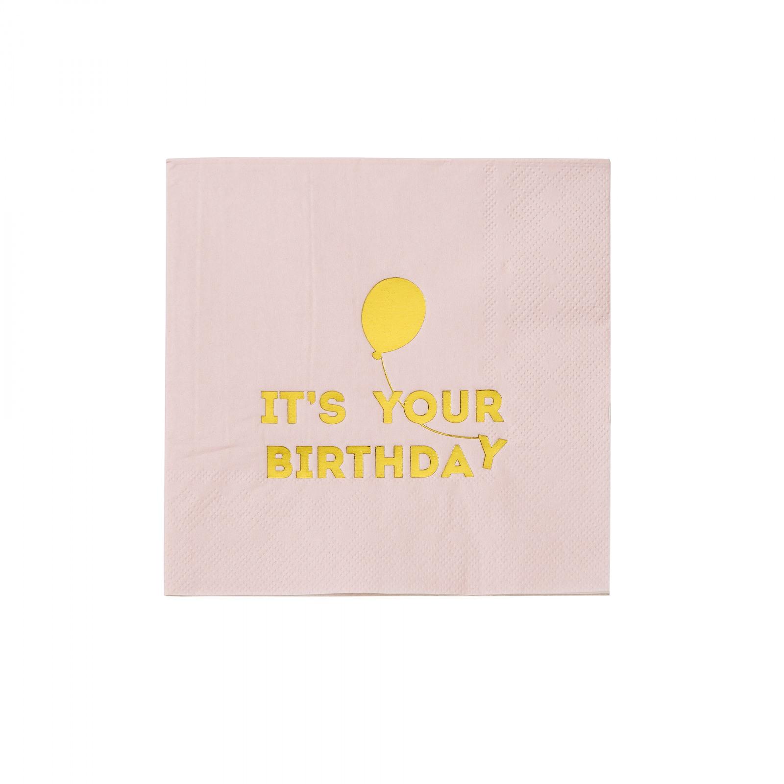 Happy Birthday Balloon Napkins 10602