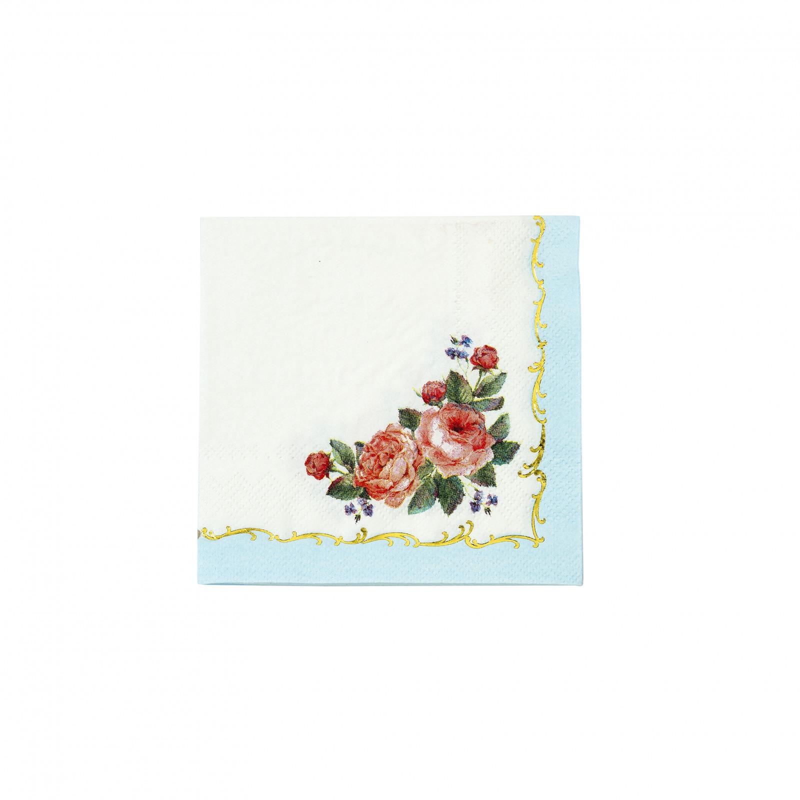 Floral Chintz Cocktail Napkin 10605