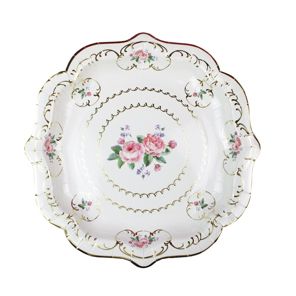 Medium Floral Chintz Plates 10607