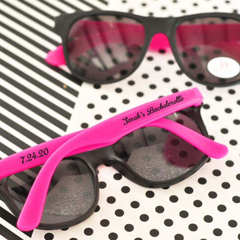 Personalized Two-Tone Wedding Sunglasses